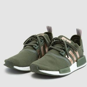 New ADIDAS NMD _R1 W green and rose gold 8